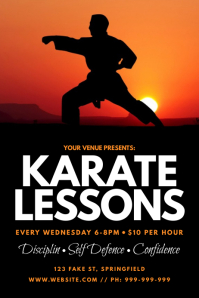 Karate Lessons Poster