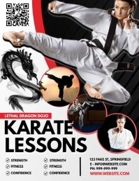 Karate Lessons Poster Volantino (US Letter) template