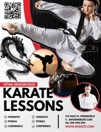 Karate Lessons Poster Flyer (US Letter) template