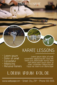 karate lessons flyer template