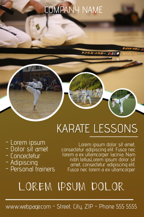 Copy of karate lessons flyer template | PosterMyWall