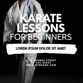 karate lessons video ad template Square (1:1)