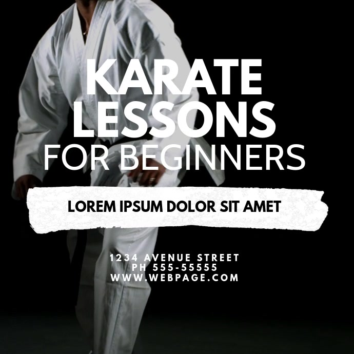 karate lessons video ad template