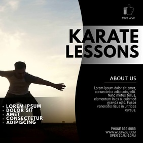Karate lessons video ad template Persegi (1:1)