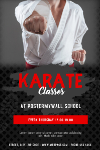 Karate Martial Arts Classes Flyer Template Cartaz
