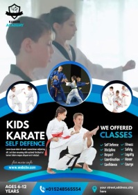 karate poster A4 template