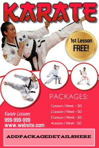 Karate Poster Flyer template