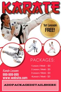 Karate Poster Flyer