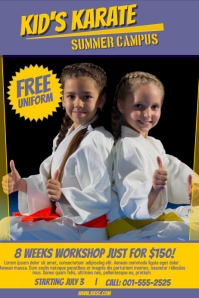 Karate Poster Template