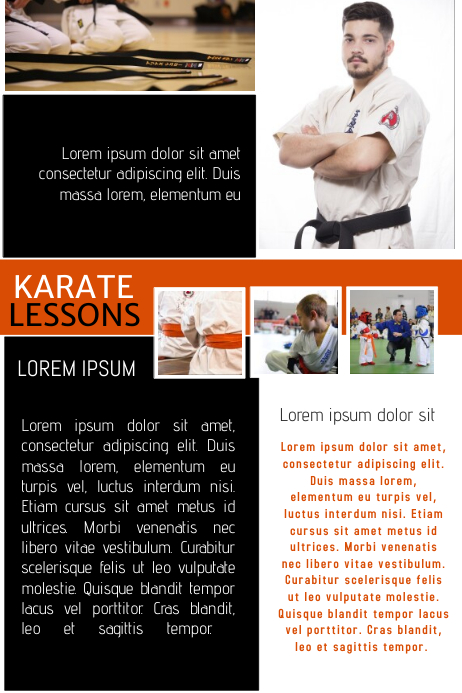 Karate Flyer Template