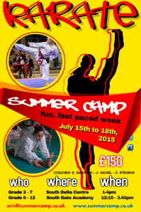 Karate Summer Camp Poster