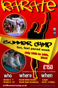 Karate Summer Camp Poster