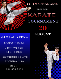 Karate Tournament Iflaya (Incwadi ye-US) template