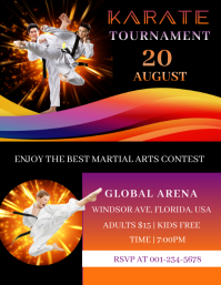 Karate Tournament Flyer (US-Letter) template