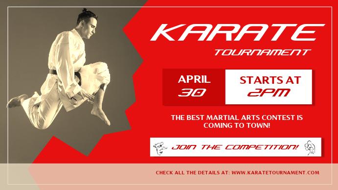 Karate Tournament Digital Display Image