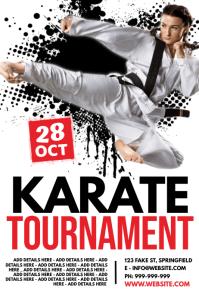 Karate Tournament Poster