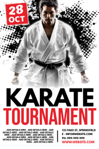 Karate Tournament Poster template
