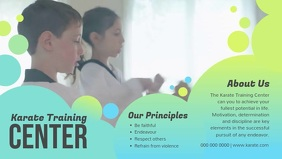 Karate Training Center Digital Display Video