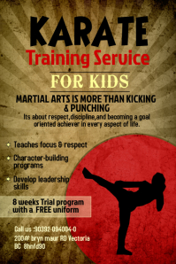 Karate Training Poster Template