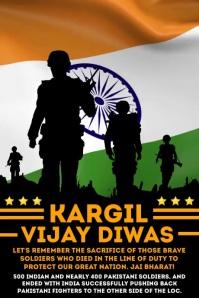 Kargil Vijay Diwas Template Poster
