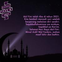 Kartu Ucapan Idul Fitri Instagram Terbaru template