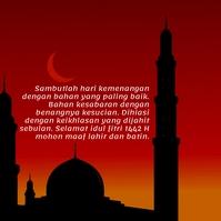 Gambar Ucapan Idul Fitri 2021 Instagram Post template