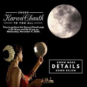Karwa Chauth 2020 Video Post Template สี่เหลี่ยมจัตุรัส (1:1)
