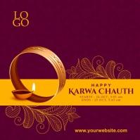 Karwa Chauth Best Wishes Post Template