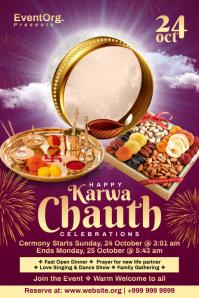 Karwa Chauth Celebration Poster Template