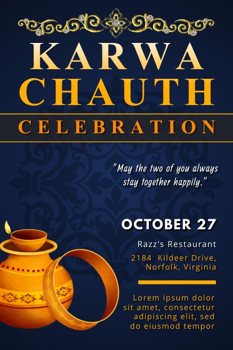 Karwa Chauth Event Invitation Poster