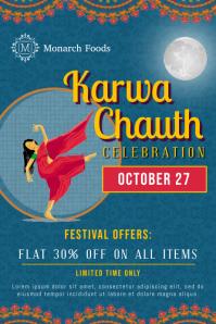 Karwa Chauth Retail Poster template