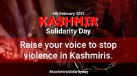 Kashmir Solidarity Day Post sa Twitter template