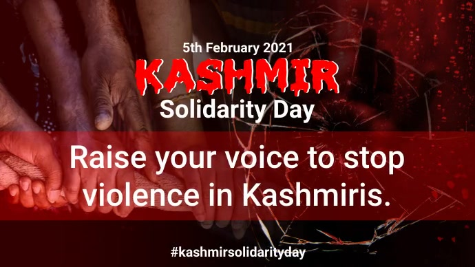 Kashmir Solidarity Day Pos Twitter template