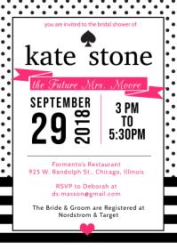 Kate Spade Inspired Invite