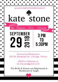 Kate Spade Inspired Invite A6 template