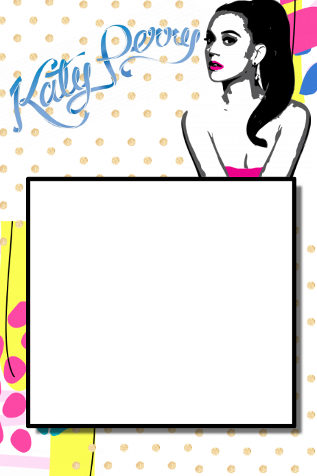 Katy Perry Party Prop Frame Template | PosterMyWall
