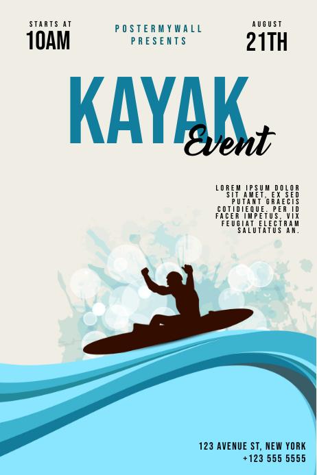 Kayak Event Flyer Template Plakat