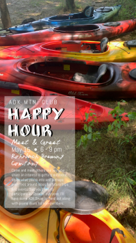 Kayak Happy Hour Instagram Story template