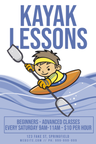 Kayak Lessons Poster