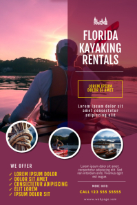 kayaking rentals business flyer template
