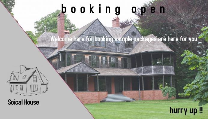 house booking template Visitekaartje
