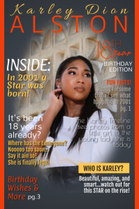 KDA Birthday Mag Poster template
