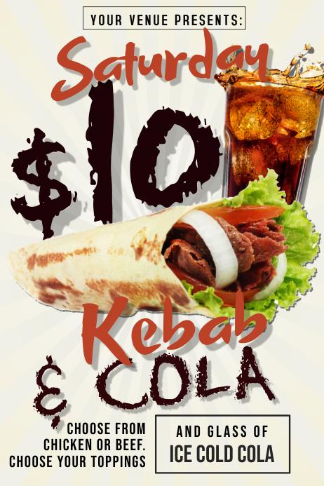 Kebab & Cola Poster