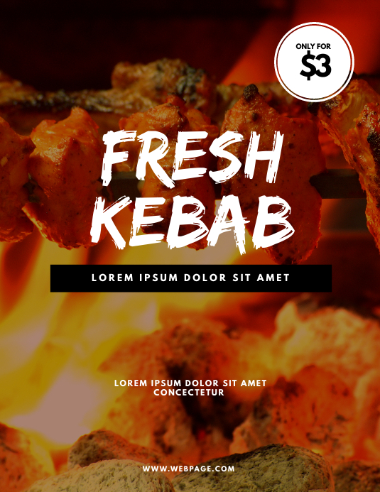 Kebab Flyer Design Template
