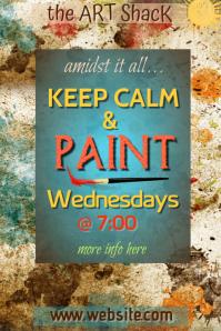 Keep Calm & Paint Poster
