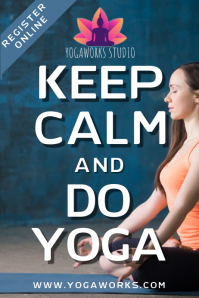 Keep Calm and Do Yoga Poster Template