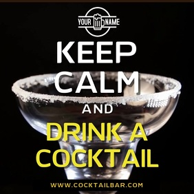Keep Calm and Drink a Cocktail Bar Video Ad Template