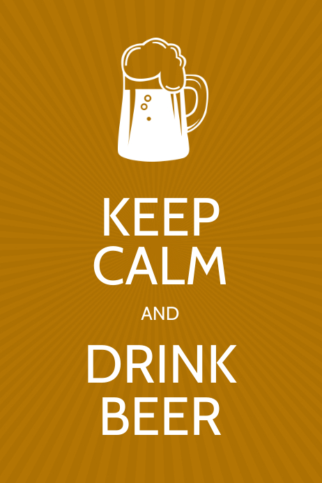 Keep Calm and Drink Beer Poster design