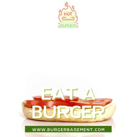 Keep Calm and Eat a Burger Video Template