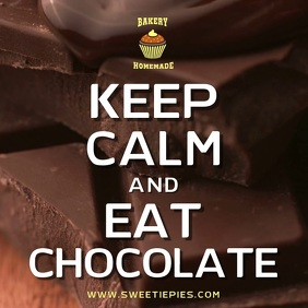 Keep Calm and Eat Chocolate Video Template